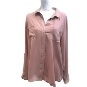 Zac & Rachel pink long sleeve blouse